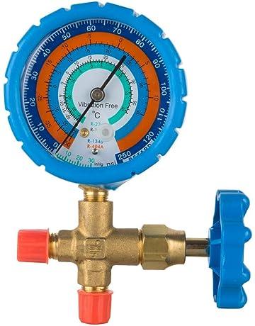 WOSTORE Air Conditioner Single Manifold Gauge Freon Testing Charging Blue Pressure R22 R12 R134a R404A,