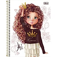 Caderno Espiral Universitário 10 Matérias com 160 Folhas Capa Dura Hi Girls Tilibra Capas Sortidas