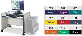 product image for Jonti-Craft Rainbow Accents Enterprise Computer Desk Black/Single Desk