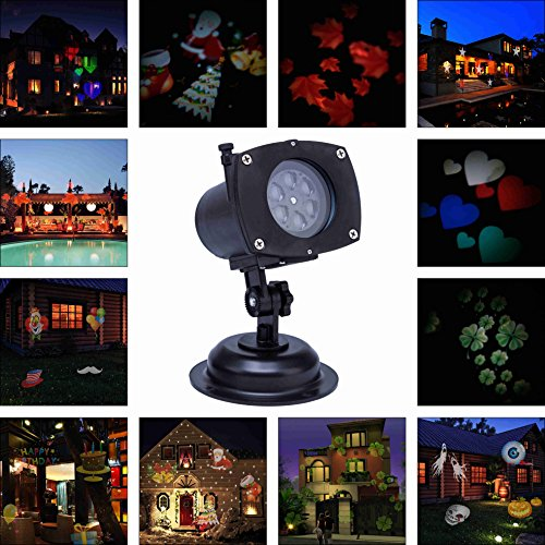 Lightess Christmas LED Landscape Spotlight Outdoor Holiday Gobos Decoration P
