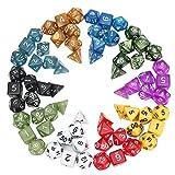 QOJA 70 pcs polyhedral dice board rpg dice set 10 colors 4d 6d