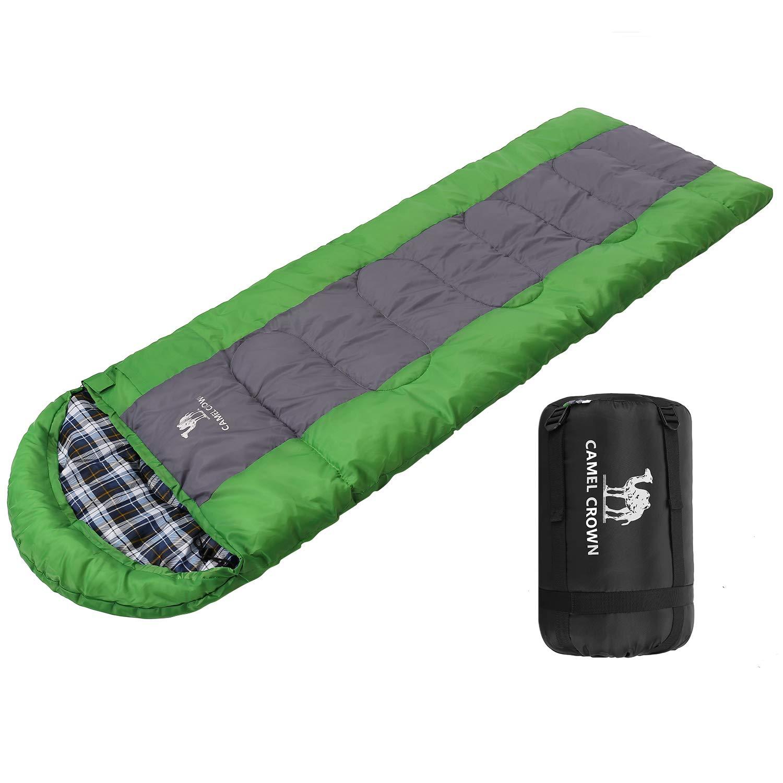 CAMEL CROWN Saco de Dormir Impermeable Ultraligero por 3 Temporadas Bolsa de Dormir Encapuchado con Bolsa de Compresión para Adultos Camping, Excursiones, Viajes, Actividades al Aire Libre product image