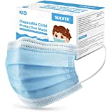 sucete 50pcs Kids Disposable Face Masks 3-Layer Breathable Protective Safety Filter Mask Nose/Mouth Coverings with…