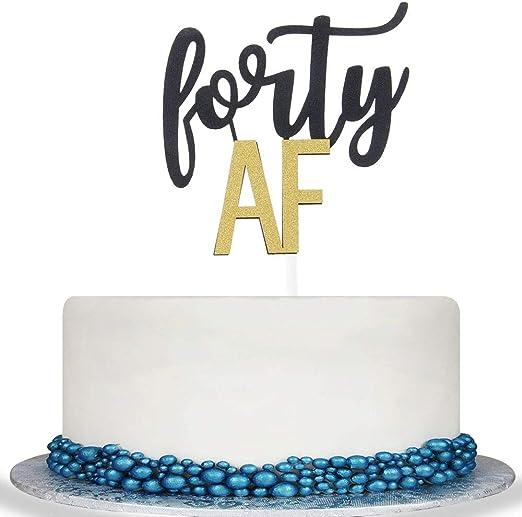 Amazon.com: Colorful Forty AF Decoración para tarta – Cheer ...