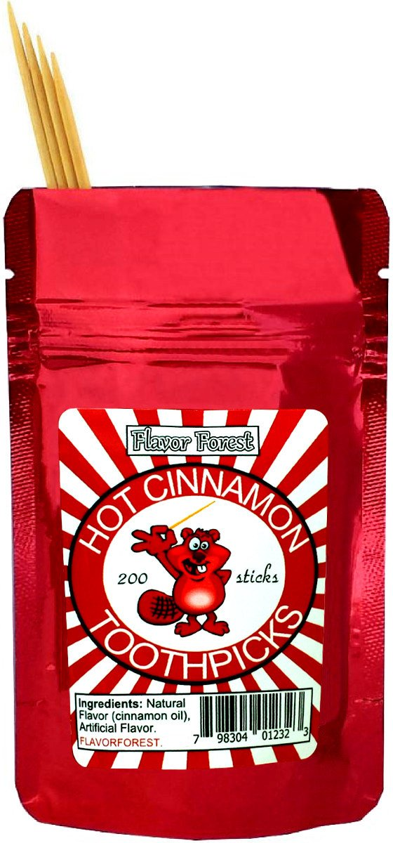 Hot Cinnamon Toothpicks 200ct