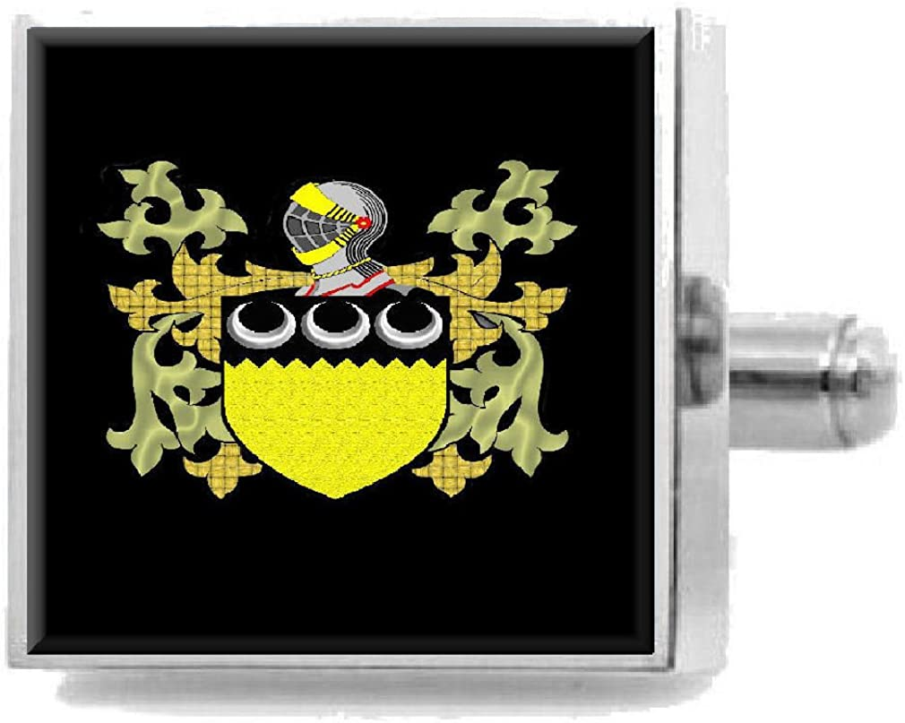 Select Gifts Harvey Scotland Family Crest Surname Coat Of Arms Cufflinks Personalised Case