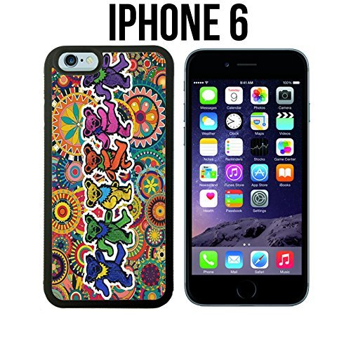 Grateful Dead and Dancing Bears Copy Custom made Case/Cover/Skin for iPhone 6 - Black - Rubber Case (Ships from CA) (Copy Ca compare prices)