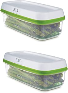 1996983 Freshworks Produce Saver Food Storage Container, Long Rectangle, 2 Pack