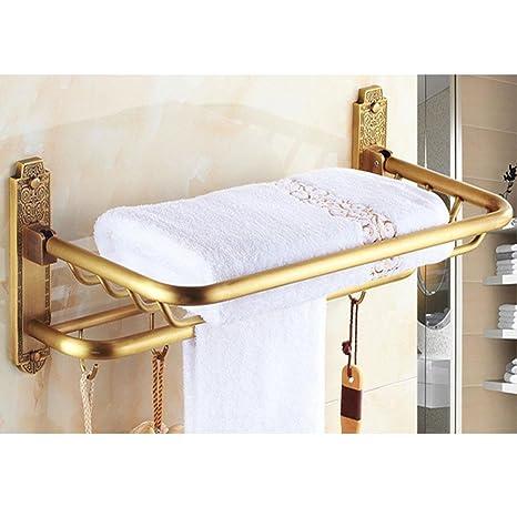 XG Cobre Llena de antigüedades Toalla doblada de Toallas de baño Estante de la Plataforma Continental