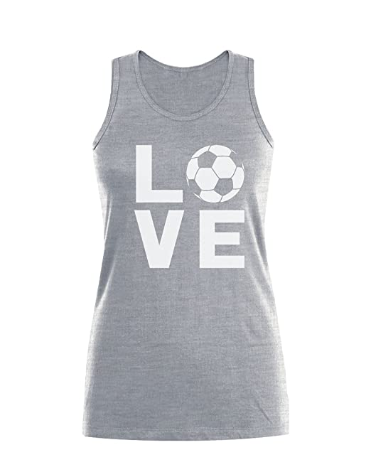 Camiseta sin Mangas para Mujer - - Love Soccer - Regalo Original para los Amantes del fútbol y futbolistas: Amazon.es: Ropa y accesorios