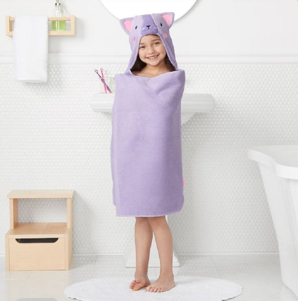 Jumping Beans Animal Hooded Bath Towel Wrap - 25'' x 50'' (CAT)