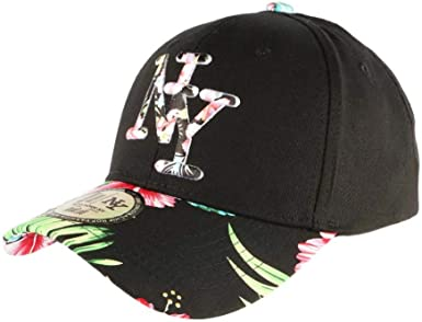 Gorra NY Negra con Flores Rojas de Estilo béisbol Fashion Tropic ...