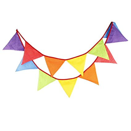 amazon com kingdeson colorful triangle party banner decoration for