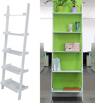 Estantería de Pared con diseño de Escalera de WA para el hogar, estantería de baño, estantería de estantería de estantería en Forma de Escalera en Forma de S, Color Gris: Amazon.es: Electrónica