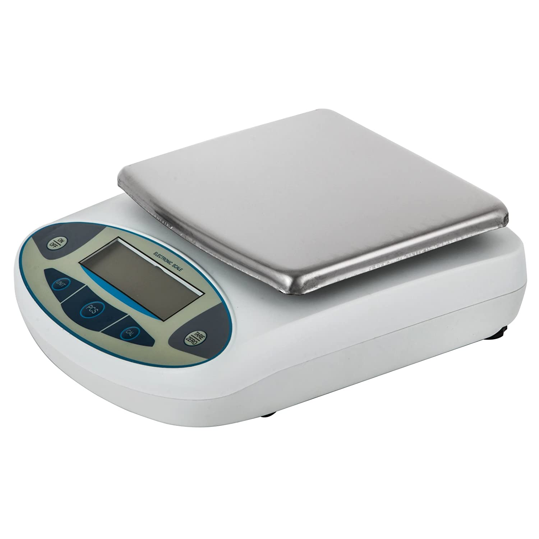 15kg, 0.1g Happybuy Analytical Balance 15kg Lab Analytical Balance Scale 0.1g LCD Display Analytical Scale Digital Precision