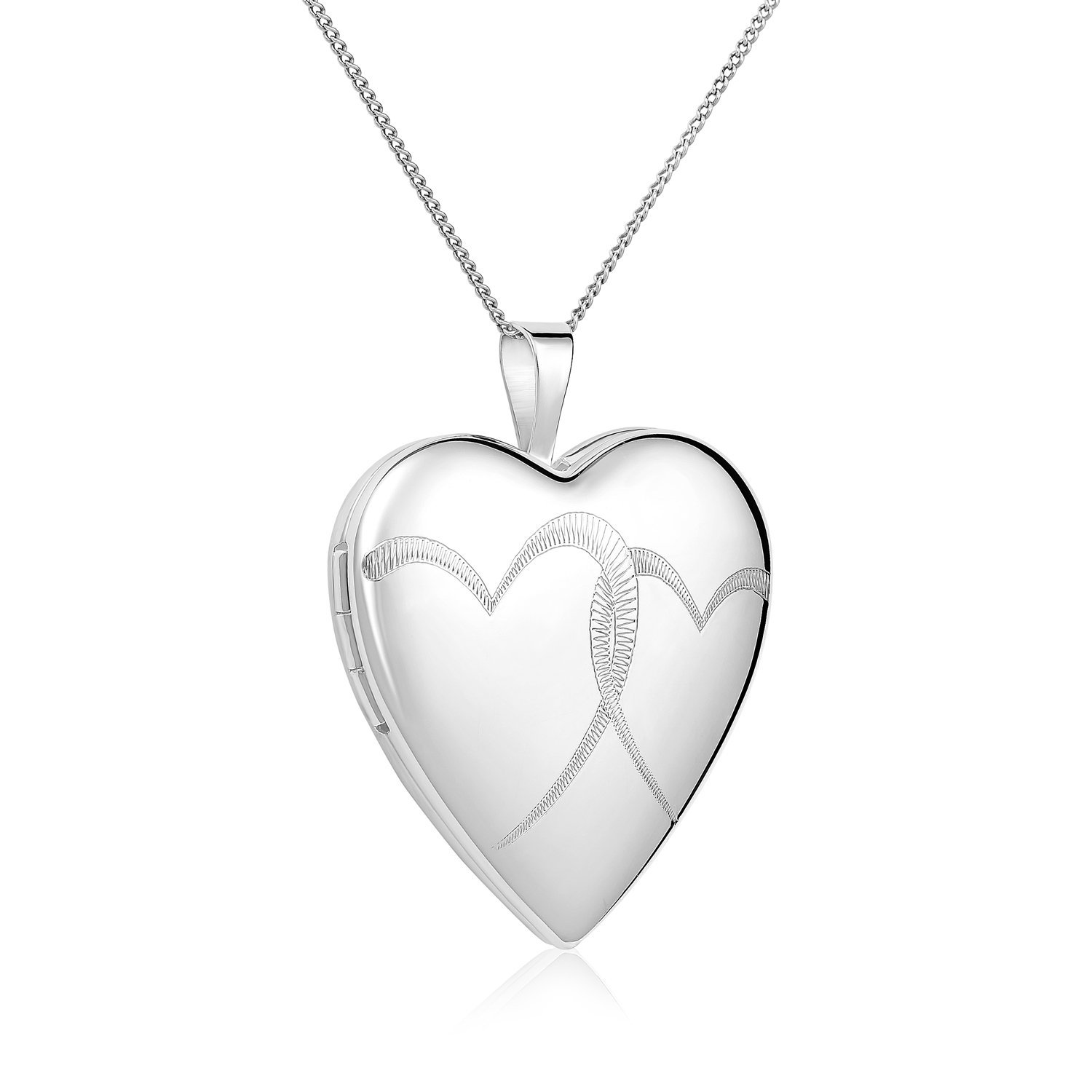 Regetta Jewelry Sterling Silver Double Hearts Heart Locket Pendant Necklace, 18'' By