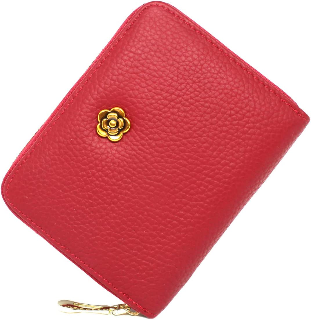Leather Zipper Card Wallet imeetu RFID Credit Card Holder for Women
