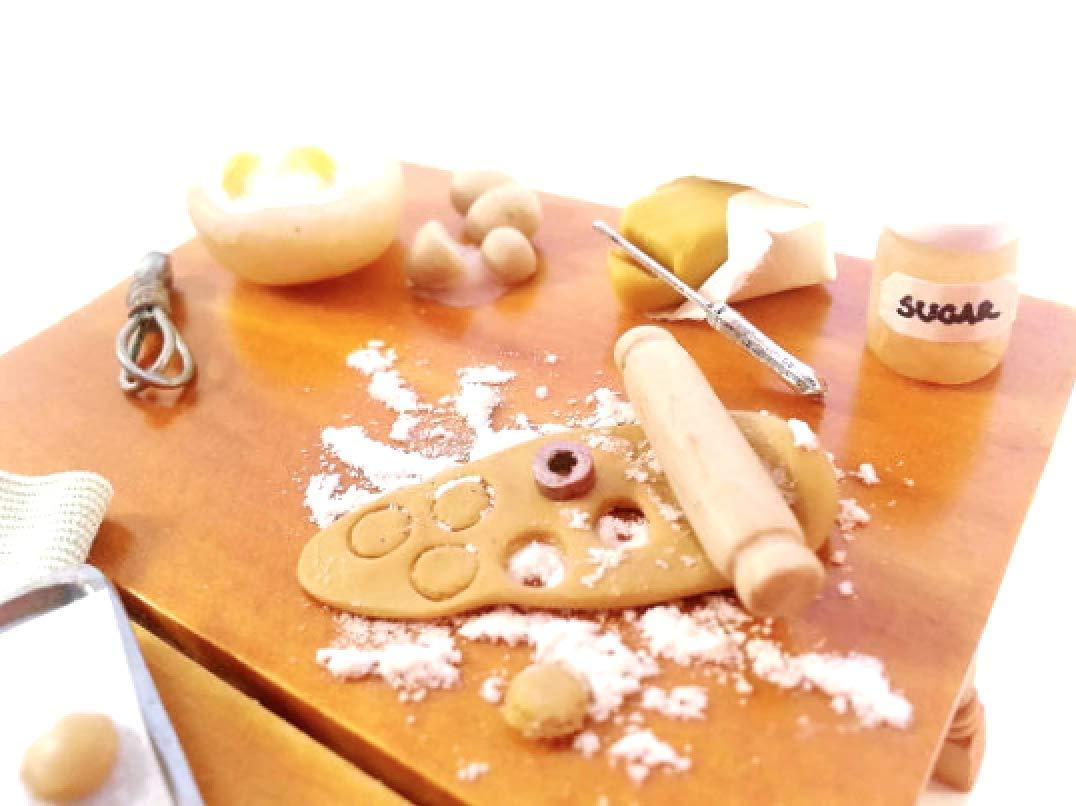 1:12 Miniature dollhouse bakery preparation set