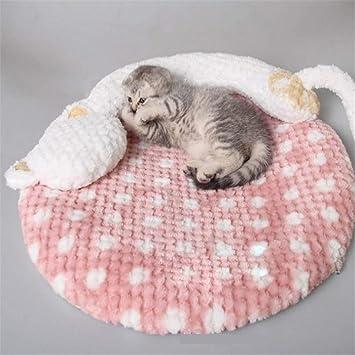 Wuwenw Colchoneta para Gatos Linda Cama para Perros Colchón para Perros Cachorro Gatito Estera para Dormir Cojín para Mascotas Cojín para Sofá para Perros ...