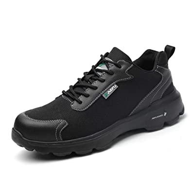 20c4f1bc8ea Mens Steel Toe Cap Safety Trainers,Work Shoes Ladies Composite Sneakers  Flyknit Outdoor Lightweight Breathable Camo Black 3.5-13