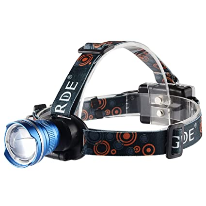 Grde Vtt Lampe Frontale Led 1800 Lumens Zoomable Headlight