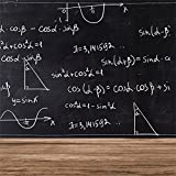 LFEEY 5x5ft Chalk Drawing Formula Blackboard Backdrop High School Colleges Students Graduation Back to School Background for Photography Wood Floor Portrait Photo Studio Props