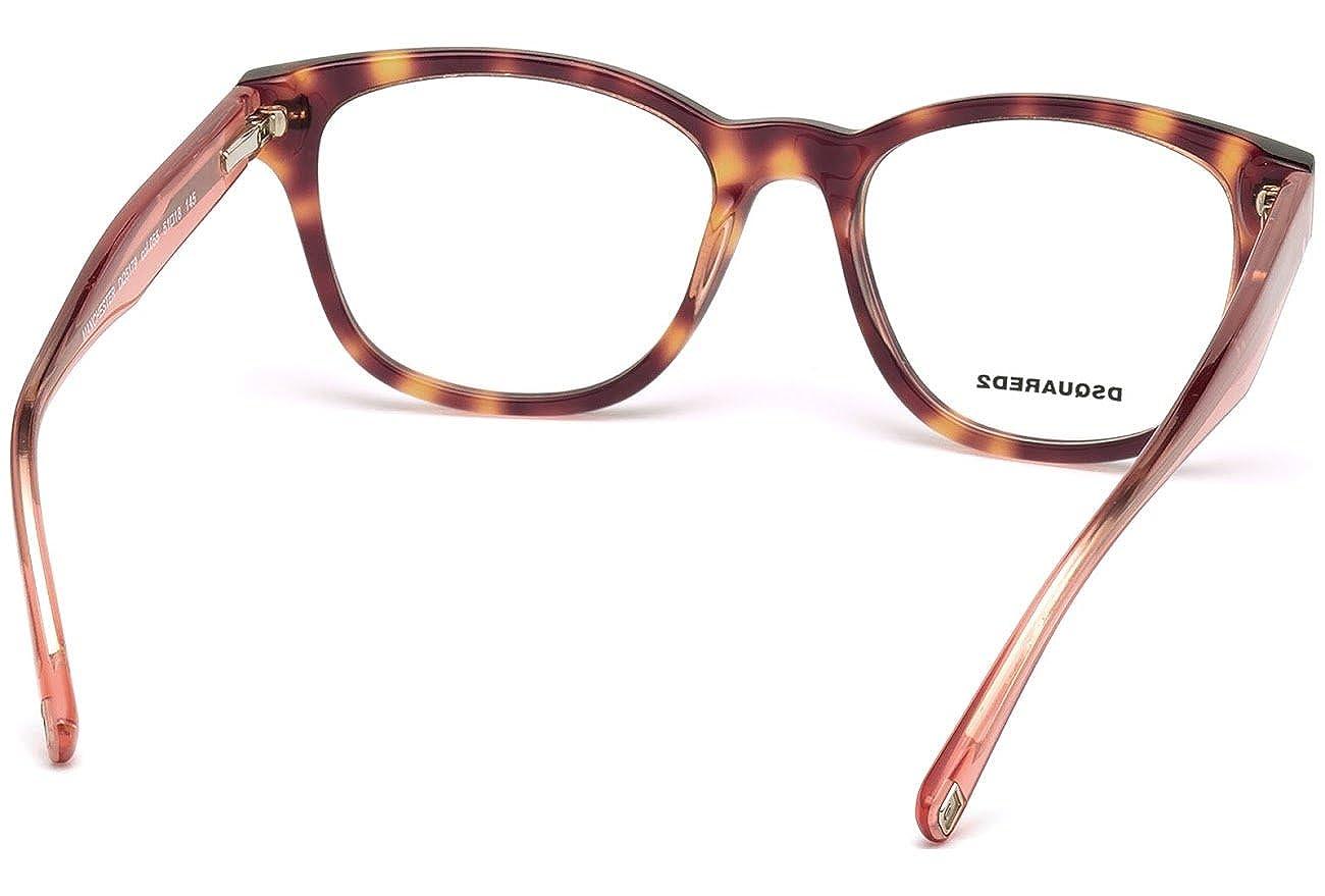 Marrone Brown 51.0 Donna D-Squared Brillengestelle DQ5179 055-51-18-145 Montature