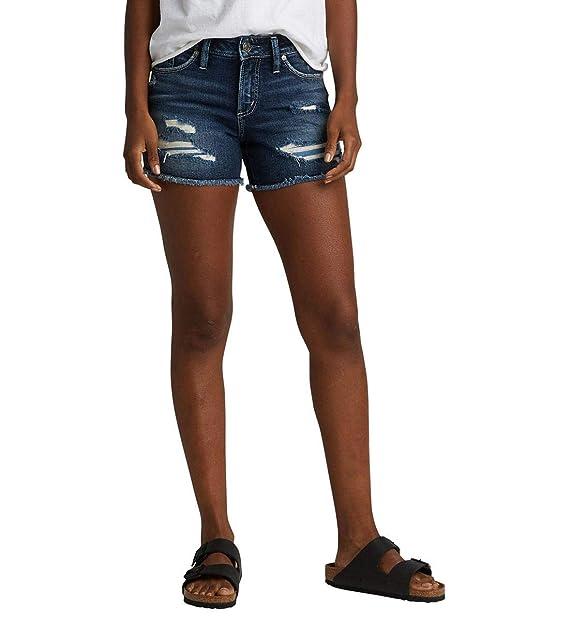 Amazon.com: Silver Jeans Co. Suki - Pantalones cortos para ...