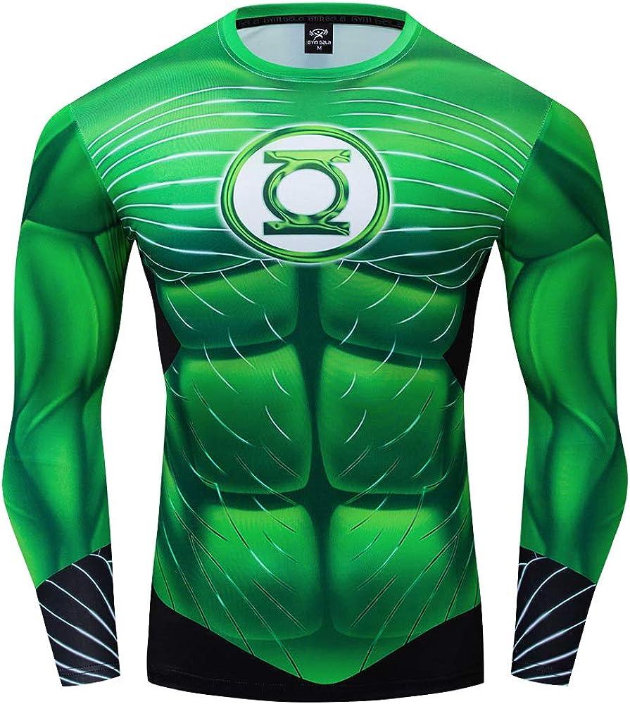 GYM GALA Green Lantern Shirt Running Sports Fitness T-Shirt HD 3D Print Compression Shirt