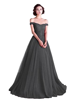 Amazon Annies Bridal Off Shoulder A Line Tulle Long Formal