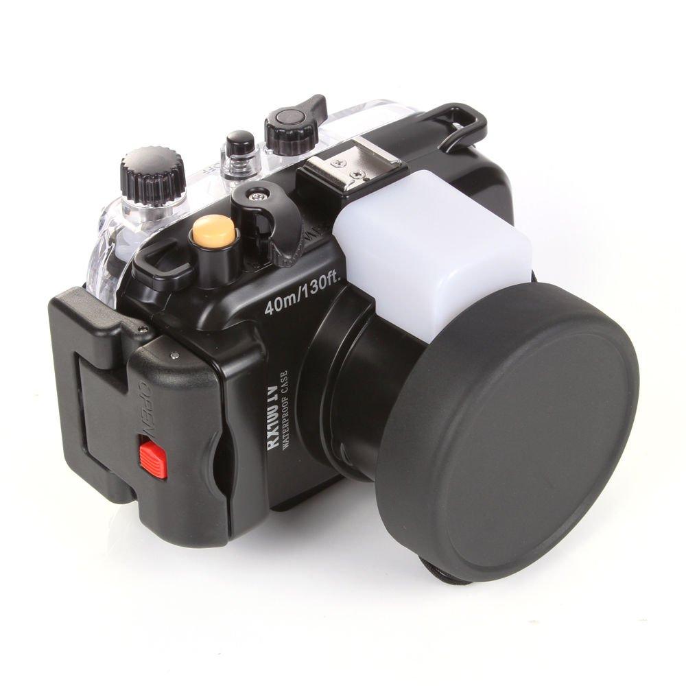 Meikon 40 M 130 ft Underwater Waterproofカメラのハウジングケースfor Sony DSC rx100 Mark IVカメラレンズ   B07CRD788B