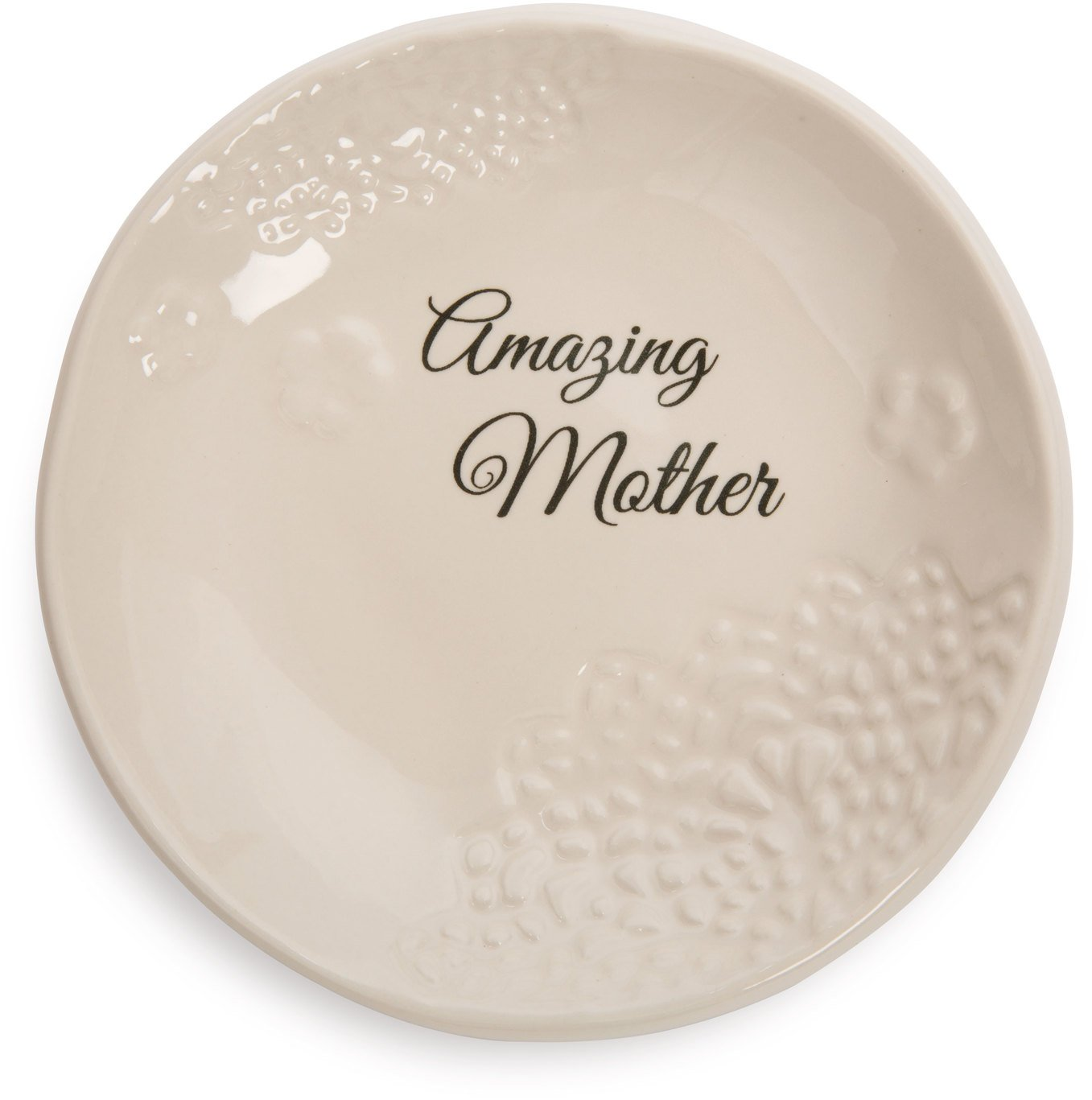 Pavilion Gift Company 19126 Light Your Way Everyday Amazing Mother Decorative Ceramic Plate, 5''