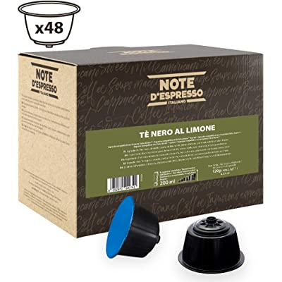 Note D'Espresso - Cápsulas de té negro al limón Exclusivamente Compatibles con cafeteras de cápsulas Nescafé* y Dolce Gusto* 2,5g (caja de 48 unidades)