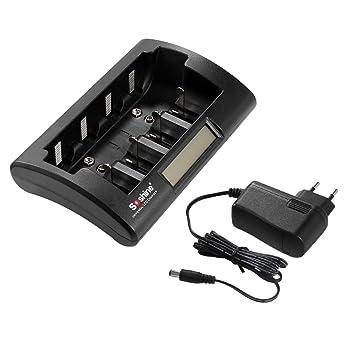 Soshine CD1 Cargador de batería Universal Pantalla LCD ...