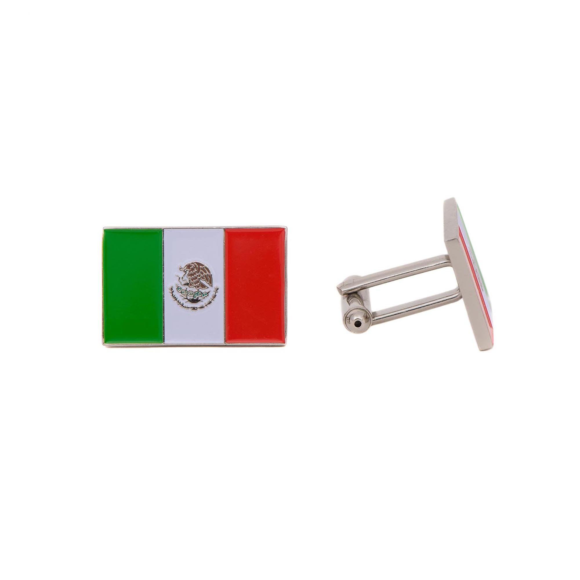 Desert Cactus Mexico Rectangle Country Flag Cufflinks Formal Wear Blazer For French Cuff Shirt Mexican