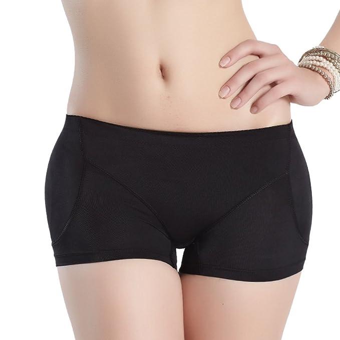 e33790929e9 Women s Padded Seamless Underwear Butt Hip Enhancer Panties Boy Shorts (XL