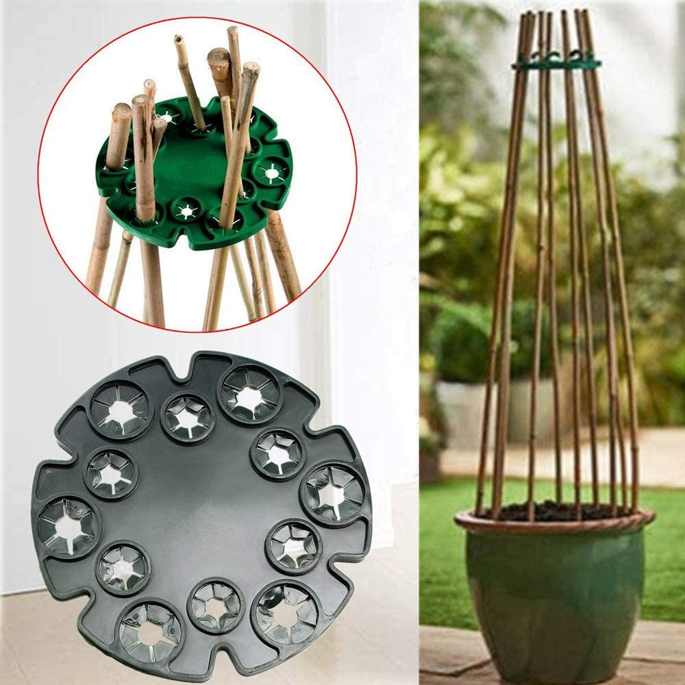 Sweet Peas Garden Tfwadmx Bamboo Cane Vegetables Plants Plant Cane Clips Support Caps Holder for Beans 8 Pack