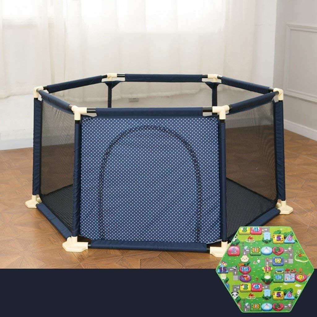 JALAL Hogar, Interior, Exterior, niños, 6 Paneles, Centro de Juegos de Seguridad, Patio, Cerca de corralito portátil para bebés con Cojines de Bolas y Almohadillas