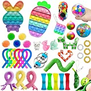 Fidget Toys Packs Simple dimple Toy Set,Fidget Block Set Stress Relief Toys for Adults Kids, Sensory Anti-Anxi