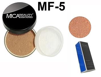 75d7d1b5ab11 Bundle 3 Items:Mica Beauty Foundation MF-5 Cappuccino,Matching Bronzer,  Aviva Shiner,