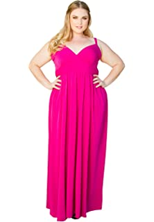 24b6b42966a82c Sealed with A Kiss Designs Womens Plus Size Sleeveless Maxi Sabrina Maxi  Dress