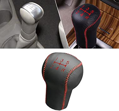 For Manual MT LIVINA 07-18 Tiida 05-10 Qashqai 08-12 MARCH 10-15 SYLPHY 2018 Gear Shift Knob Shifter Lever Leather Cap Knob protect Cover Insert Replacement Black Type M