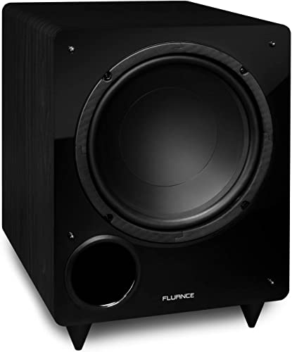 Fluance DB10 10-inch Low Frequency Powered Subwoofer for Home Theater Black