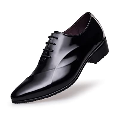 Amazon.com | ZRO Men's Lace Up Formal Modern Oxford Dress Shoes ...