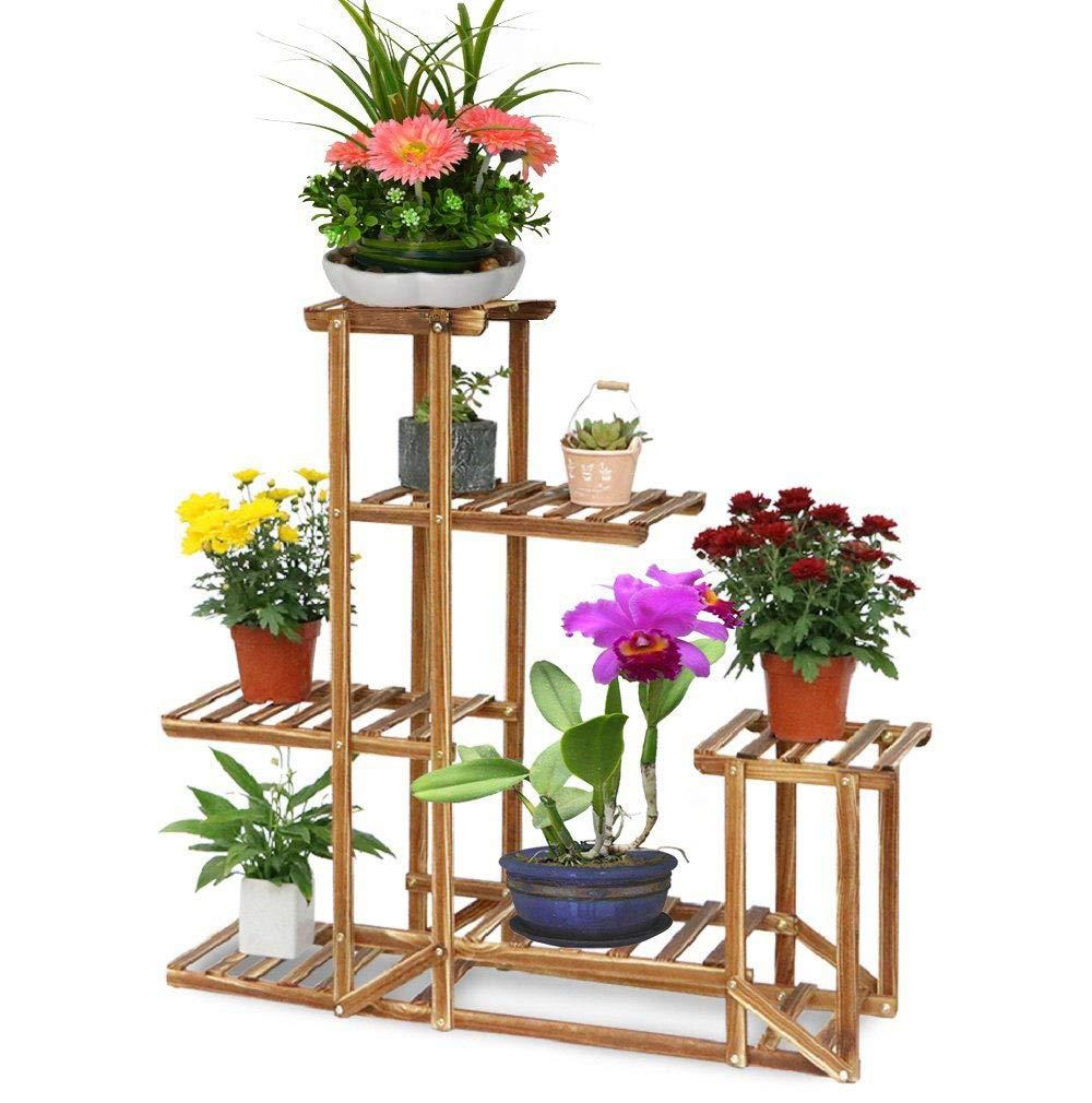 conveniente Malayas Scaffale Porta-fiori 6 6 6 Ripiani Legno Fioriera verdeicale a Scala da Interno 95 cm x 26 cm x 71 cm  risposta prima volta