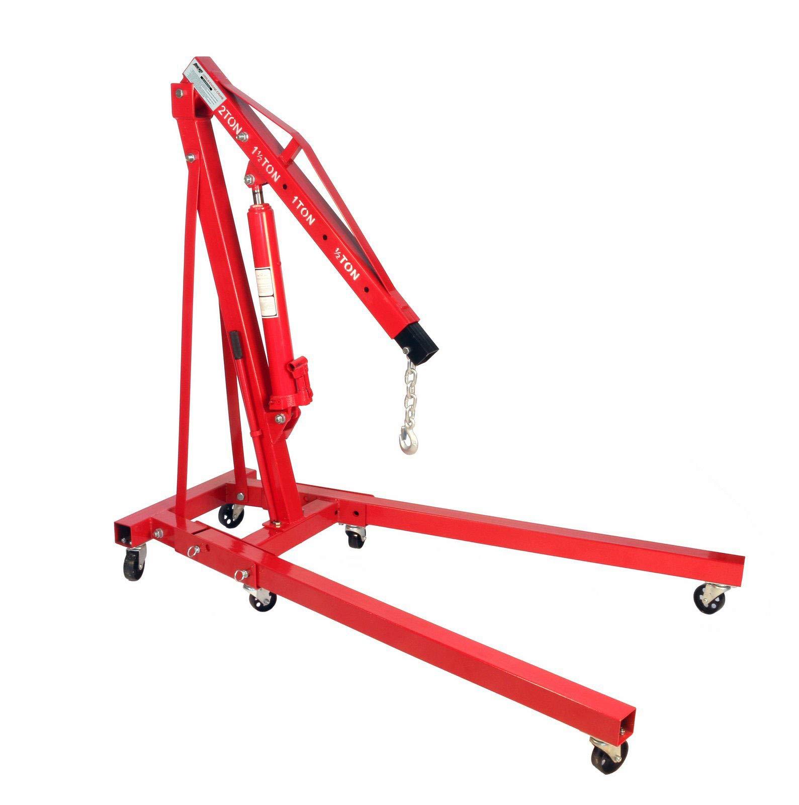 Dragway Tools 2 Ton Folding Hydraulic Engine Hoist Cherry Picker Shop Crane Hoist Lift by Dragway Tools