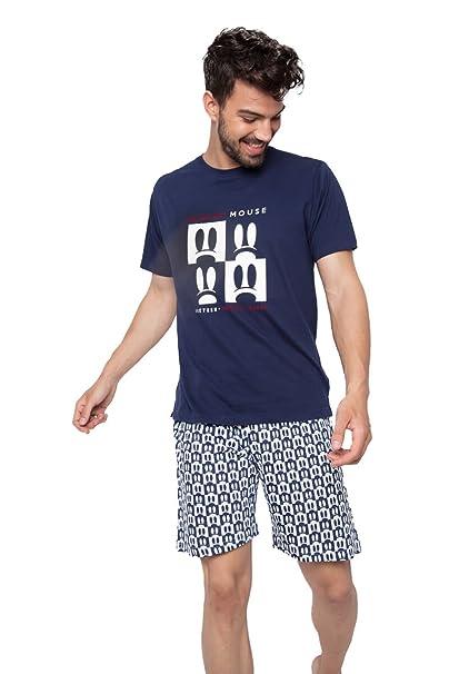 Disney - Pijama Para Hombre Mickey Mouse, Color: Marino, Talla: XXL