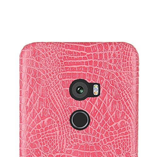 Funda HTC One X10, SunFay Funda Posterior Protector de PC Carcasa Back Cover de Parachoques Piel PU Protectora de Teléfono Para HTC One X10 - Naranje Rosa