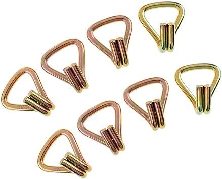 4 Pezzi Gancio J in Acciaio Resistente e Resistente Doppio J Universale per Cinghie di Ancoraggio Standard da 25 Mm