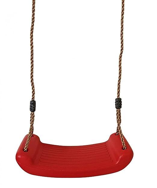 Dondolo Da Giardino In Plastica.Fachhandel Plus Altalena Per Bambini In Plastica Rosso Altalena